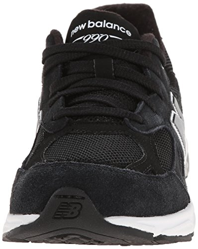 New Balance - - Unisex-Kind-990v3 Grade School Laufschuhe Black with Grey & White