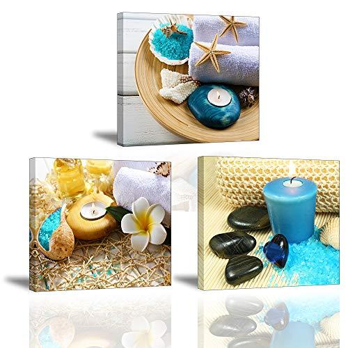 Piy Painting Cuadro Lienzo Zen Vela Azul Medicina