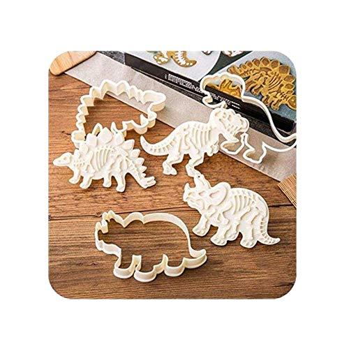 Chakil 3 Stück Keksausstecher Backformen Dinosaurier Form Kuchen Formen DIY Backen Kuchen Stempel Backformen für Fondant Kuchen Schokolade Kekse Plätzchen Formen 14 x 8 cm - Dinosaurier-kuchen-form