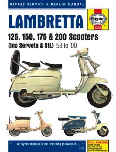 lambretta-li-tv-sx-dl-scooters-service-repair-manual-1958-1998-haynes-service-and-repair-manuals-by-