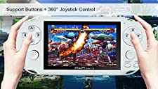 "Handheld Game Console , 650 Classic Games 4.1"" 64 Bit Portable Game Console PAP-GametaII Support GBA / GBC / SEGA / NES / SFC / NEOGEO (White)"