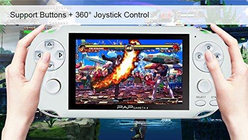 Consolas de Juegos de Mano, Anbernic Portable Game Console 4.1 Pulgadas de Pantalla TFT Retro Consolas Juegos de Consol con 658 Juegos Regalos de Cumpleaños de Navidad para los Amigos Niños (Blanco)
