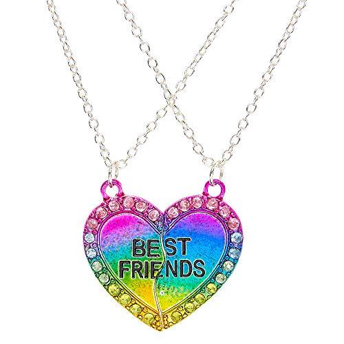 qualité incroyable dernière vente beaucoup à la mode Claire's Girl's Best Friend Neon Crystal Necklace in Rainbow