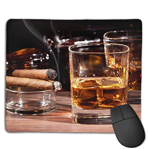 Preisvergleich Produktbild Mouse Pad Colored Whisky in Cup Rectangle Rubber Mousepad 8.66 X 7.09 Inch Gaming Mouse Pad with Black Lock Edge