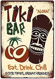 Blechschild 20x30cm gew/ölbt Aloha Room Tiki Bar Cocktail Music Deko Geschenk Schild