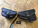 Muscle Black & RED Set V Rod Seitentaschen Harley Davidson VROD V-Rod rot Satteltaschen Schwingentasche Seitenkoffer Nigthtrod Night Tasche schwarz HD