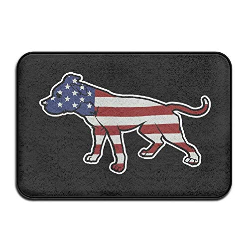 DDOBY American Pitbull Standing Stolz USA Flag Indoor/Outdoor Fußmatte 2416 Zoll (Stolz Pitbull)