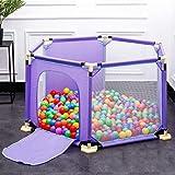 JIMI-I Baby Sicherheitsspiel Zaun Baby Kind Indoor Kleinkind Zaun Zaun Sicherheit Krabbeln Schutz Spielplatz (1,5 m Zaun / 1,5 m Zaun + 150 Bälle) (Farbe : B, größe : 1.5 m Fence+150 Balls)