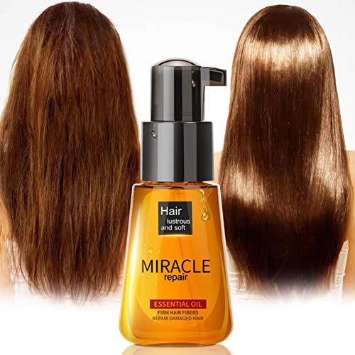 Moroccan Oil traitement pour tous les types de cheveux, Huile d'argan pure - 100% certifiée biologique. 60 ml. Pour Cheveux Peau Corps Ongles