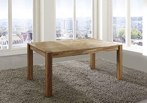 SAM Esszimmer-Tisch Egon, 200 x 100 cm, aus Wildeiche, Küchentisch geölt, massiv & pflegeleicht, Esstisch