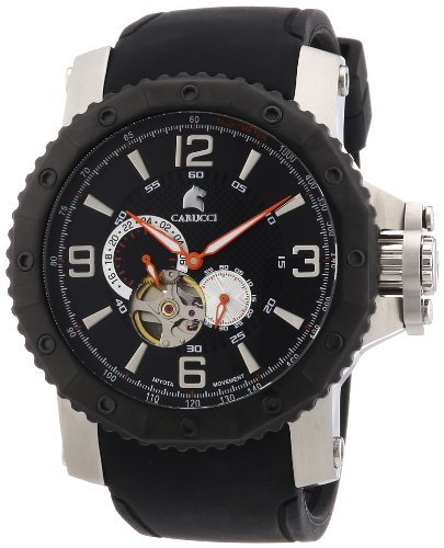 Carucci Watches Men's Automatic Watch Turin CA2198SL with Rubber Strap
