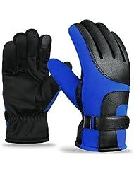 Longless Calor exterior guantes de deportes de invierno y otoño ejecuta todos los hombres y mujeres de fútbol guantes