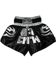 Duo Gear Boys 'Dark Angel Muay Thai y Kickboxing pantalones cortos de boxeo, Niños, color negro/plata, tamaño small