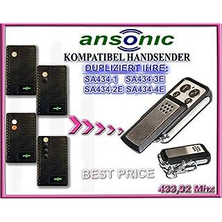 ANSONIC SA434-1 / SA434-2E / SA434-3E / SA434-4E kompatibel handsender, klone fernbedienung, 4-kanal 433,92Mhz fixed code. Top Qualität Kopiergerät!!!