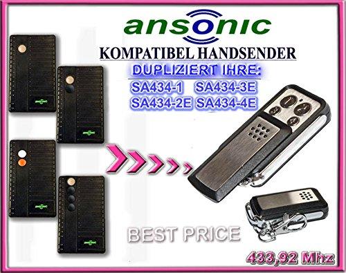 ANSONIC SA434-1 / SA434-2E / SA434-3E / SA434-4E kompatibel handsender, klone fernbedienung, 4-kanal 433,92Mhz fixed code. Top Qualität - Board Torantriebe Control
