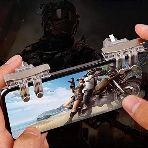 GWMasket 1 Paar S10 Transparent PUBG Freizeit Spiel Zubehör Mobile Metall Gamepad Telefon Spielkonsole Grip-Holder Halterung für Spielkonsole - Freizeit Metall