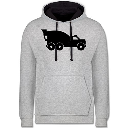 Andere Fahrzeuge - Betonmischer - Kontrast Hoodie Grau meliert/Dunkelblau