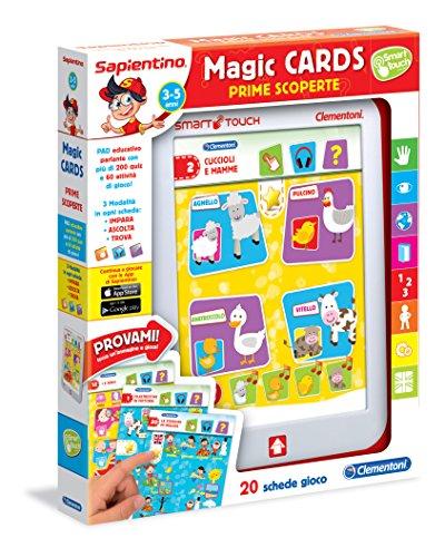 Sapientino clementoni 13275 magic cards prime scoperte, 3-5 anni