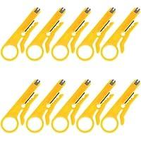 Wen & Cheng 10PCS mini spellafili coltello Piegatore pinza crimpatrice cavo punch spellafili per cavi con diametro 5–6.2mm