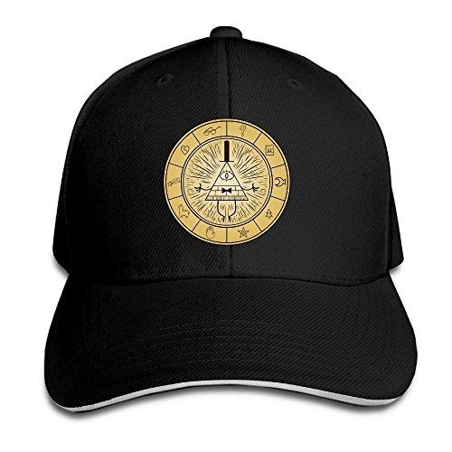 Hittings Unisex Gravity Falls Bill Cipher Adjustable Snapback Baseball Cap Red One Size Black Cap Fall