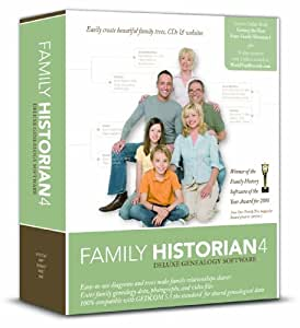 Family Historian 4 Deluxe Genealogy Software (PC CD)