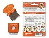 Pettine anti pidocchi e anti lendini Lausinator 3in1 con lente d'ingrandimento integrata, fodera e spazzola per la pulizia sia per bambini che per adulti.