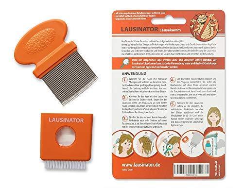 Pettine anti pidocchi e anti lendini Lausinator 3in1 con lente d'ingrandimento integrata, fodera e spazzola per la pulizia sia per bambini che per adulti. preisvergleich