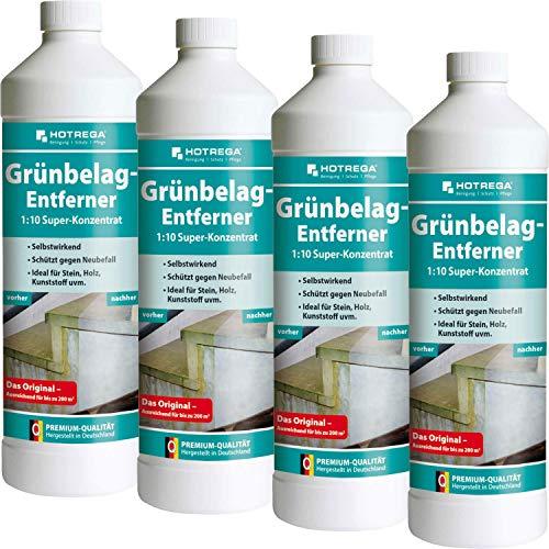 4 x HOTREGA Grünbelag-Entferner 1000ml Flasche
