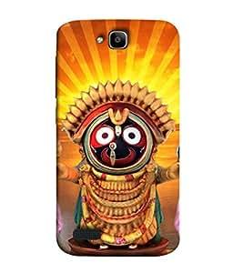 PrintVisa Designer Back Case Cover for Huawei Honor Holly (God rathyatra famous in nrown orange )