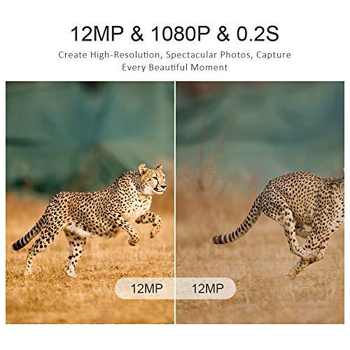dfe9686c5f2e7f Crenova 2019 Upgraded Crenova Trail Camera 12MP 1080P HD Wildlife Camera  with 120° Wide Angle