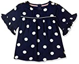 #3: Marks & Spencer Baby Girls' Polka Dot Regular Fit T-Shirt (2102A_Dark Navy_12-18M)