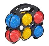 bonsport Boule-Set Boccia Kugeln :: 6 farbige Boule Kugeln inkl. Tragekoffer und Zielball