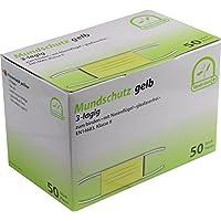 Mundschutz 3-lagig mit Bändern medi-Inn 50 Stück verschiedene Farben EN114683 TypII (gelb) preisvergleich bei billige-tabletten.eu