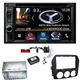 Kenwood DNX-4180BTS Navigation Naviceiver Bluetooth CarPlay USB CD DVD Autoradio FLAC Doppel Din Einbauset für Mazda MX-5 NC