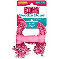 KONG Puppy Goodie Bone with Rope Dog Toy, X-Small, Blue/Pink(Assorted)