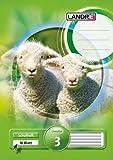 LANDRE 100050069 Schulheft 10er Pack A5 16 Blatt Lineatur 3 - für die 3. Klasse 3 Motive sortiert