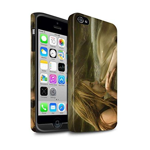 Officiel Elena Dudina Coque / Matte Robuste Antichoc Etui pour Apple iPhone 4/4S / Pack 7pcs Design / Agua de Vida Collection Sonrisas/Dauphin