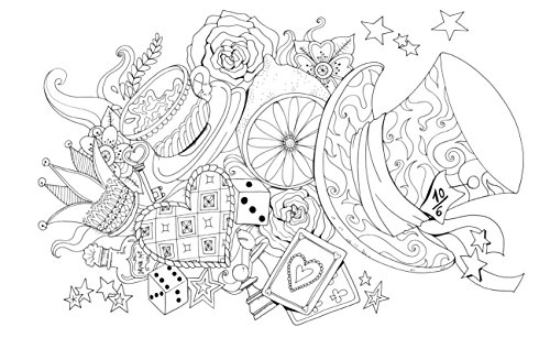 Alice Nel Paese Delle Meraviglie Colouring Book Whitestar