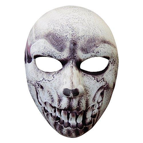 Widmann 05705 - Maske Skelett halb Gesicht, aus Stoff für Erwachsene