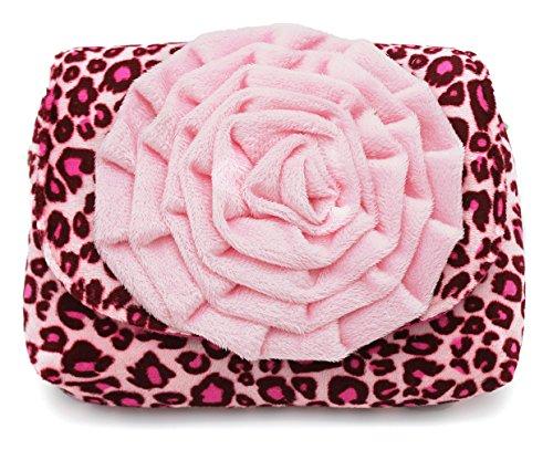 Scheppend moda piccole ragazze borsa bambini borsa monospalla duplice scopo per i più piccoli e bambini rosa Grande leopardo