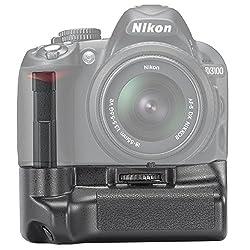 Neewer 10003862  Professional Vertical Battery Grip Holder for NIKON D3100/D3200/D3300 SLR Digital Camera EN-EL14 Battery (Black)