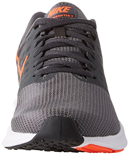 Nike Downshifter 7, Scarpe Running Uomo Grigio (Dark Grey/total Crimson-anthracite-black)