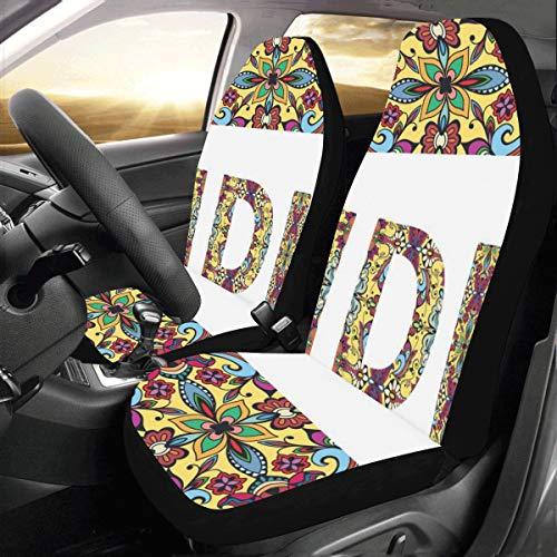 Tribal Etnico Segno India Roma Parigi Personalizzato Nuovo Universale Car Seat Copre Protector per Donnemobile Jeep Camion SUV Veicolo Set Completo Accessori per Adulti Bambino Set di 2 Anterio