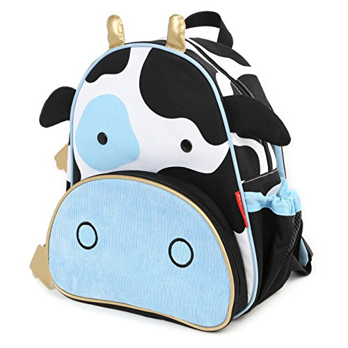 Skip Hop Zoo Toddler Mesh Insulated Backpack for Kids (Blue, 12-inch)