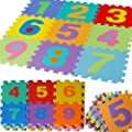 JSG Accessories® Outdoor/Indoor Protective Flooring Mats -36pcs Small alphanumeric interlocking children`s soft foam eva play mat alphabet and numbers digits - inexpensive UK flooring shop.