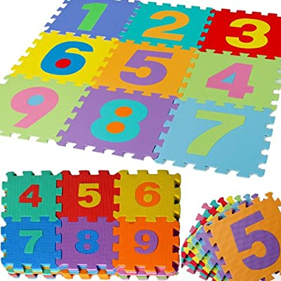 JSG Accessories® Outdoor/Indoor Protective Flooring Mats -36pcs Small alphanumeric interlocking children`s soft foam eva play mat alphabet and numbers digits