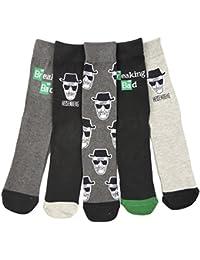 Mens Breaking Bad Heisenberg Socks FIVE Prs Great Christmas Gift Stocking Filler …