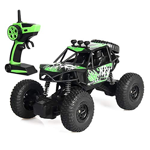 Fcostume 2,4G 1:20 RC High-Speed-Full-Scale-Doppel-Pickup Truck Auto Remote Buggy (Grün)