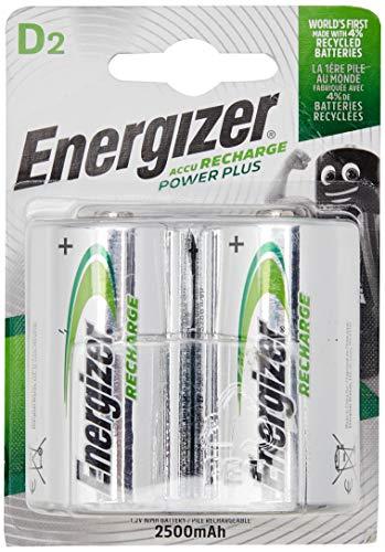 Energizer Wiederaufladbare Batterien D, Recharge Power Plus, 4 Stück