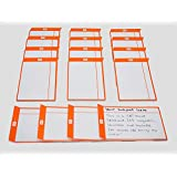 Scrum Junta Tarjetas magnético para ágil Scrum Kanban–taskcards–Juego de 16tarjetas, color naranja